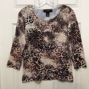"""Pretty Peck & Peck Sweater! Bling! M. Bust 35""""."""